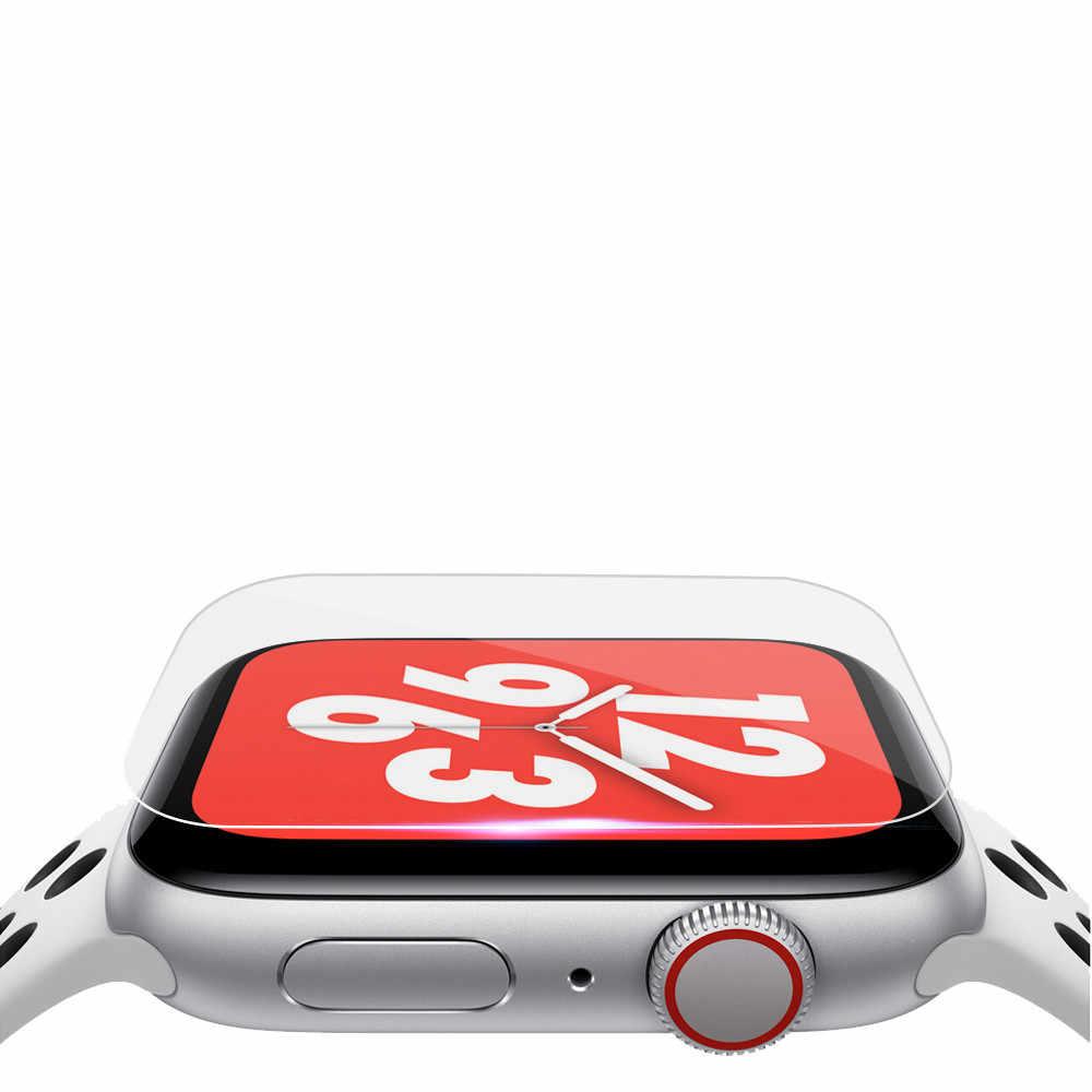 2Pack 0.2 Mm Kaca Temperd HD Penuh Cakupan TPU Layar Film Pelindung untuk Apple Watch Seri 4 (40 MM) obejrzyj Film Ochronny