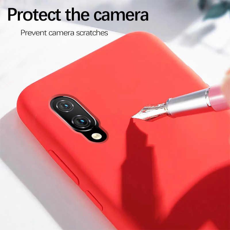 Xiaomi Red mi Note 7 funda de silicona líquida suave proteger la contraportada Xiaomi mi 9 9T 8 SE A2 Lite Red mi Note 8 7 6 5 Pro 7A 6A funda