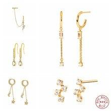 Boucles d'oreilles en argent Sterling 925, bijoux tendance en forme de lune, étoile, pendentif goutte, pour Couple, anniversaire de mariage