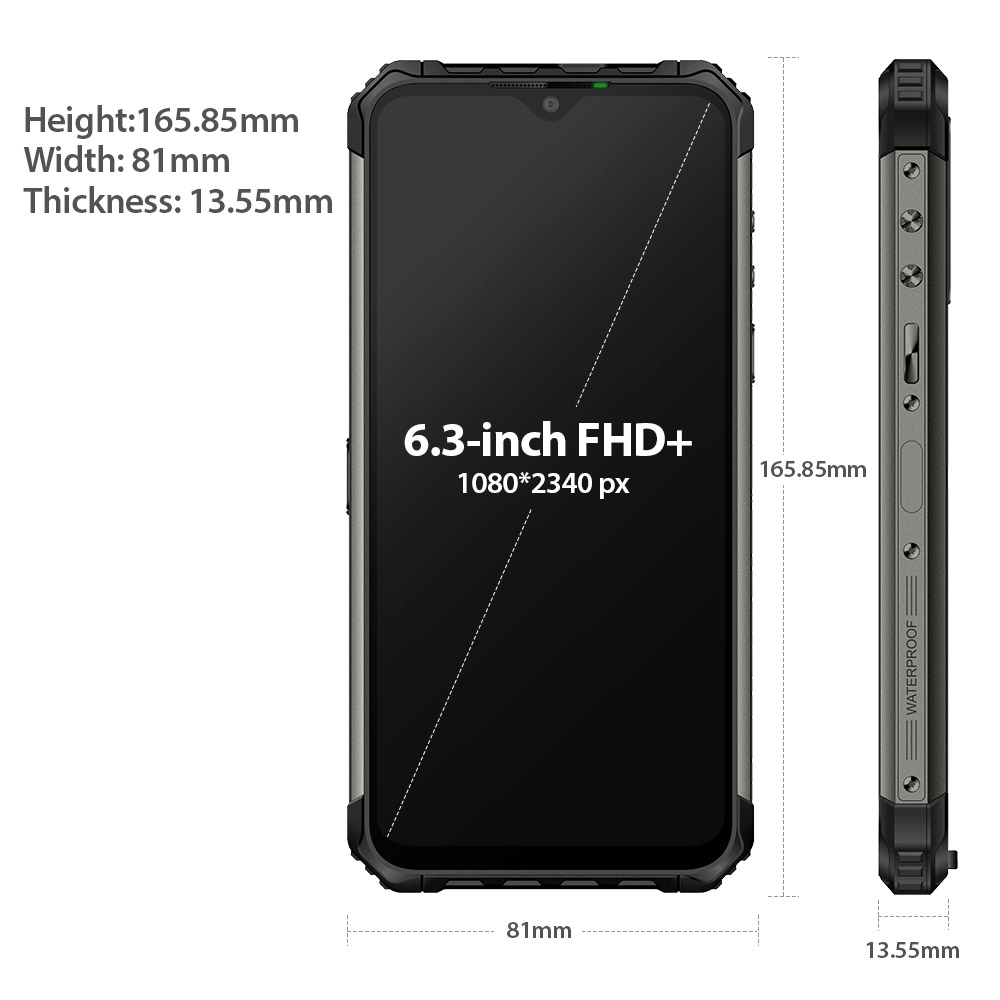 Ulefone Armor 7E Rugged Mobile Phone Helio P90+128G Smartphone 2.4G/5G WiFi Waterproof IP68 Global Version Android 9.0 NFC/48MP