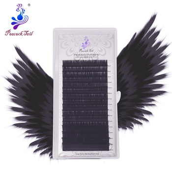 16rows eyelash extension professional extensions Russia Volume matte individual eyelash natural soft eyelashes mix Peacock tail