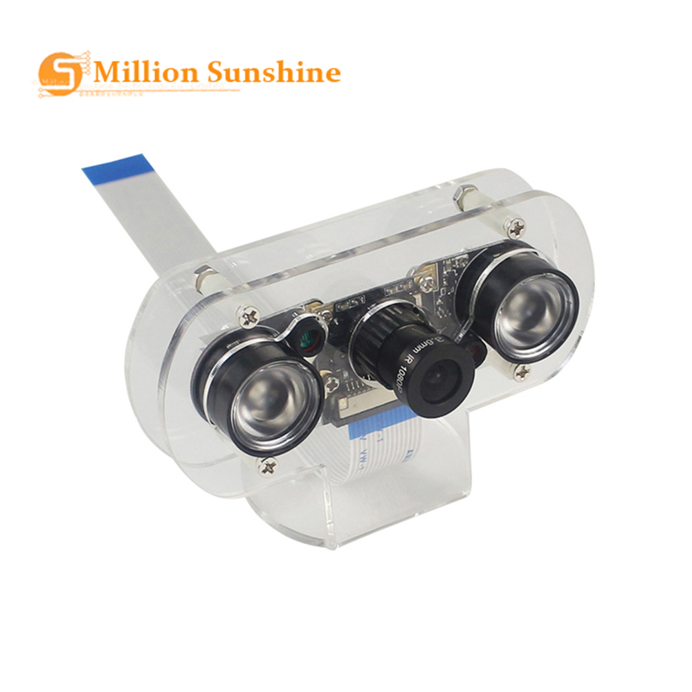 5MP Raspberry Camera Focal Adjustable Night Vision Camera IR Sensor Light For Raspberry Pi 4 Model B/3B+/3B/Zero RPI112