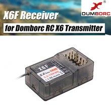 Dumborc x6f/x6fg 2.4g 6ch receptor do sistema de controle rádio para domborc rc x6 transmissor rc barco carro transmissor