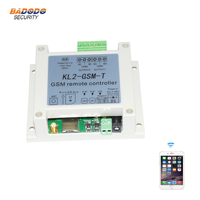 GSM two relay output remote controller switch access controller KL2 GSM with NTC temperature sensor for water electric heating