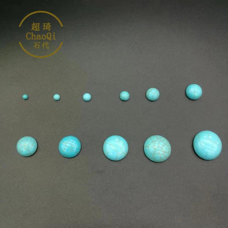10pcs Black Oval Turquoise Cabochon,Howlite Stones