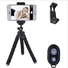 Mobile Phone Holder Flexible Octopus Tripod Bracket for Mobile Phone Camera Selfie Stand Monopod Support Photo Remote Control ootdty flexible tripod stand gorilla mount monopod holder octopus for gopro camera