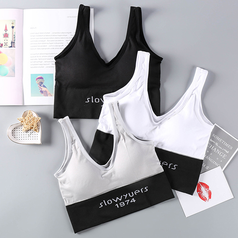 Women Sports Bra Yoga Tops V Neck Workout Fitness Clothes Seamless Wrap Bra Gym Activewear Yoga Suit