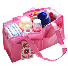 Portable Mommy Bag Bottle Storage Multifunctional Separate Bag Nappy Maternity Handbag Baby Tote Diaper Organizer(China)