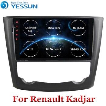 Radio de coche Android 9 Octa core para Renault Kadjar 2016 2017 2018 2019, reproductor Multimedia con GPS, Wifi, pantalla táctil HD, unidad principal ESTÉREO