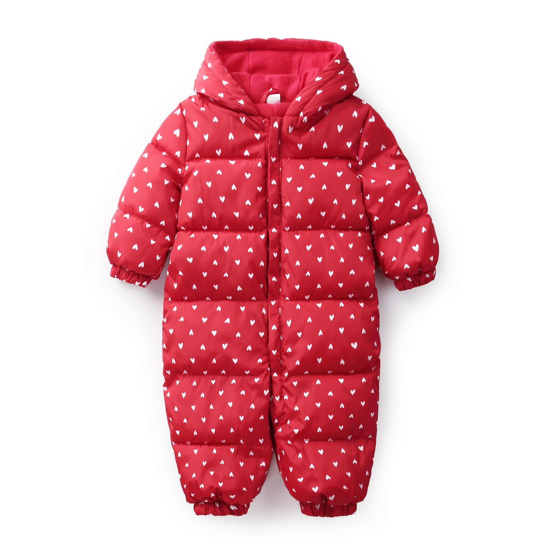 冬新生児服ジャンプスーツ迷彩暖かい防寒着女の子のフード付きオーバーオール子供ユニセックスベビーロンパース