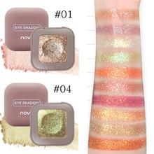 Novo Makeup 10 Color Glitter Eyeshadow Palette Eye Shadow Palette Shine Polarize