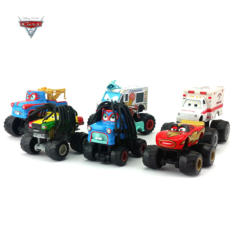 Disney Pixar Cars Alloy Vehicle Set Anime Character McQueen Black Storm Bigfoot Vehicle Model Children Disney Birthday Gift