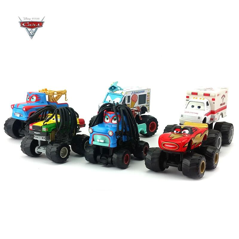 Disney Pixar Cars Alloy Vehicle Set Anime Character McQueen Black Storm Bigfoot Vehicle Model Children Disney Birthday Gift