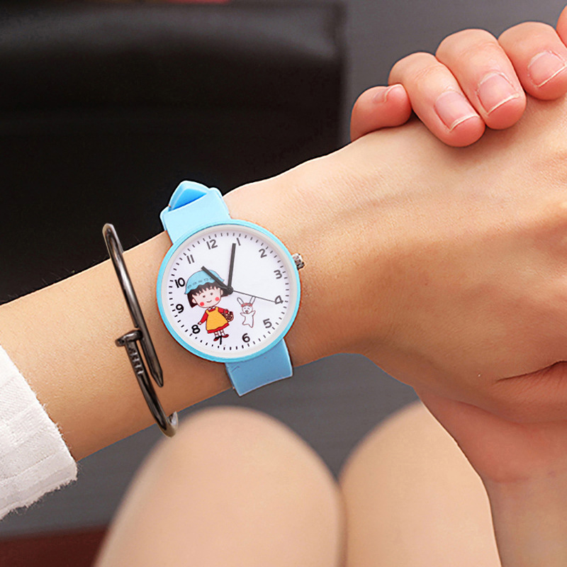Lovely Fashionable Children's Cartoon Cat Jelly Candy Girl Heart Watch Pink Female Students