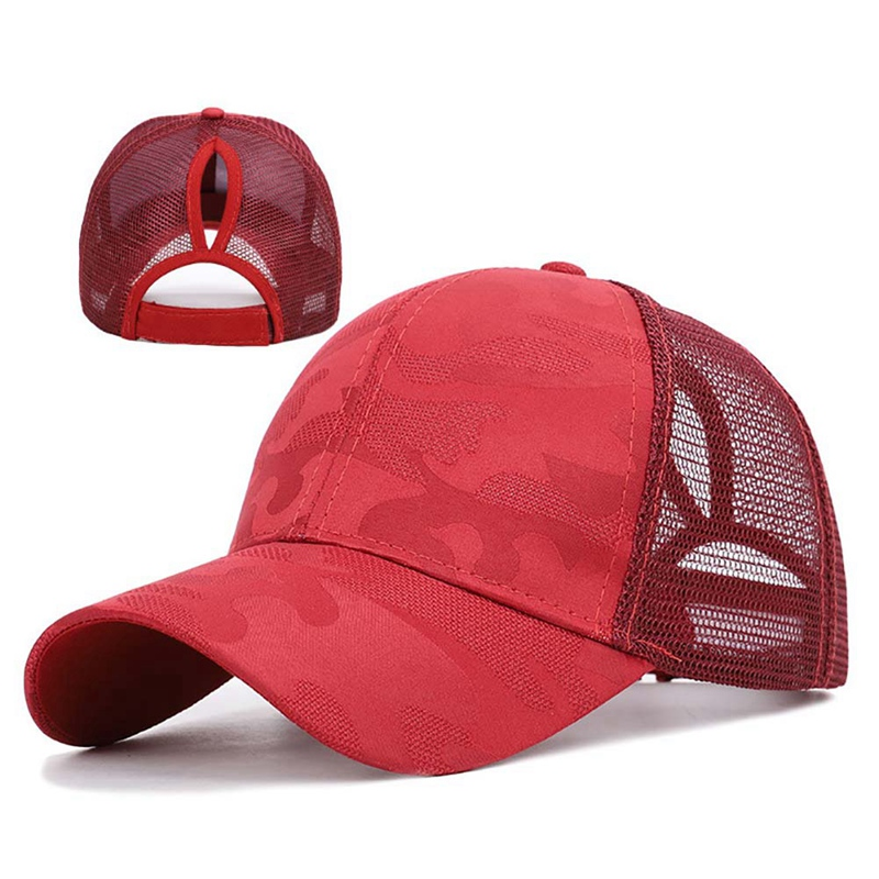 Adjustable Back Closure For Messy High Baseball Cap Sunshade  Cotton Ponytail Hat Headwear Outdoor Sports Wear With