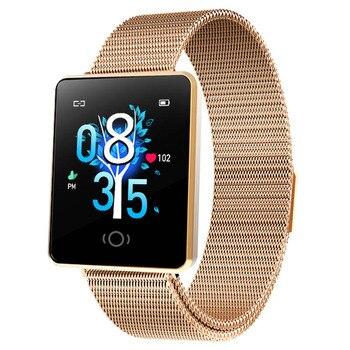 CK26 nuevo reloj inteligente a la moda para mujer, reloj deportivo con ritmo cardíaco a prueba de agua, pulsera de rastreador de Fitness para mujer, reloj para IOS Android