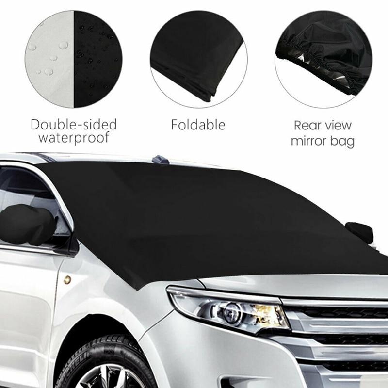 Купить магнитный козырек для лобового стекла автомобиля от снега 210*125