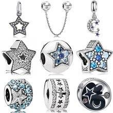Estrela série trinket talão caber pandora pulseira de cristal encantos diy pingente bangle cobra corrente acessórios para presente feminino