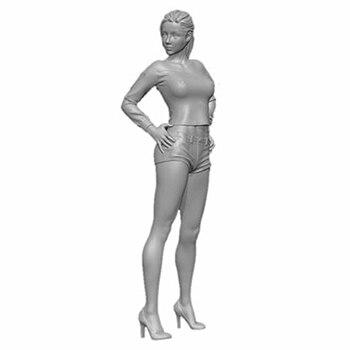 Soporte moderno para mujer con pelo (sin BASE), kit de figura de resina en miniatura, gk en miniatura, sin montar, sin pintar, 1/20