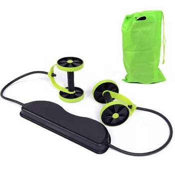 New Style Multi-functional Two-Wheel Abdominal Wheel Household Fitness Equipment Belly Holding round Men's Power Roller Pulling 8pcs shower room bathroom glass door swing round pulley roller wheel circular shower wheel rolling wheel