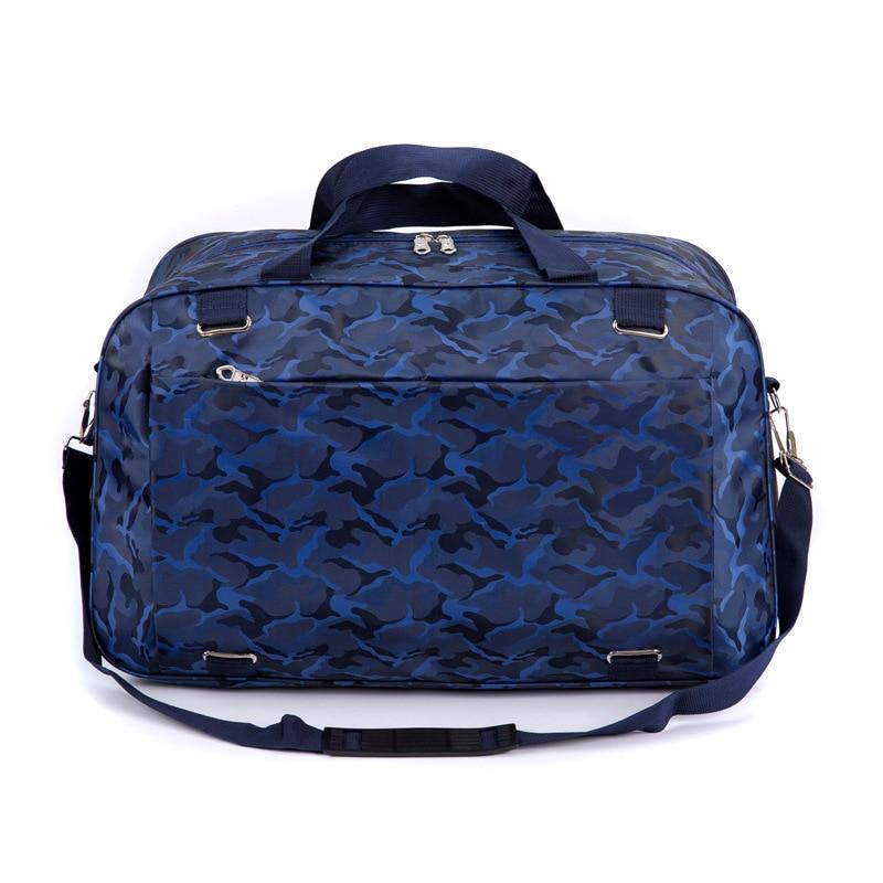 Large Foldable Travel Duffel Bag for Women /& Men Waterproof Soft Oxford Nylon Overnight Weekender Bag Lightweight Carry-on Tote Duffel in Trolley Handle