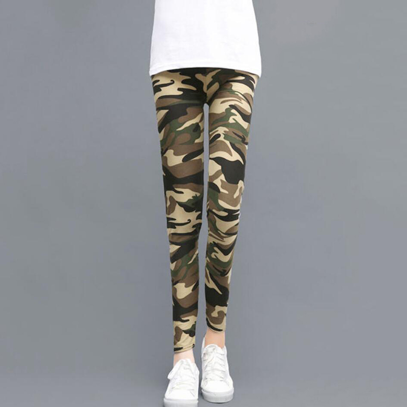 Sexy Print Camouflage Leggings Women Fashion Casual Camo Sport Femme Workout Fitness Plus Size Legging Push Up Pants