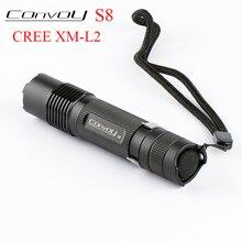 Convoy S8 Cree XML2 T6 U2 LED Flashlight Linterna LED S2 Plus Lantern 18650 Flash Light Torch Camping Lamp Work Bike Light Black бомбер dc convoy black