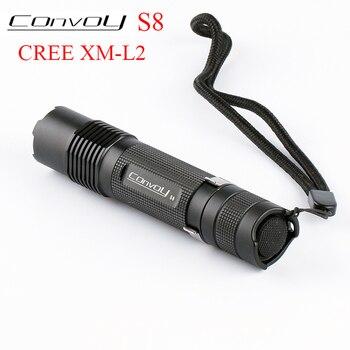 Convoy S8 Cree XML2 T6 U2 LED Flashlight Linterna LED S2 Plus Lantern 18650 Flash Light Torch Camping Lamp Work Bike Light Black 10pcs dc3 7v 5 modes led flashlight driver for cree xml t6 u2 xml2 10w led light lamp torch