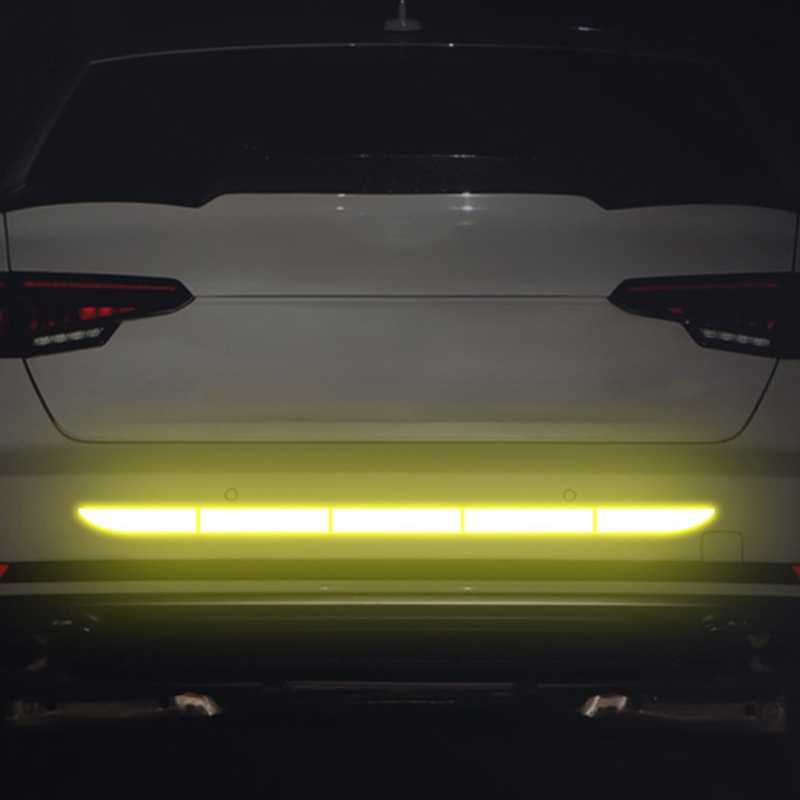 Corpo do carro amortecedor traseiro reflexivo aviso adesivos marca de segurança decalque aviso bicicleta