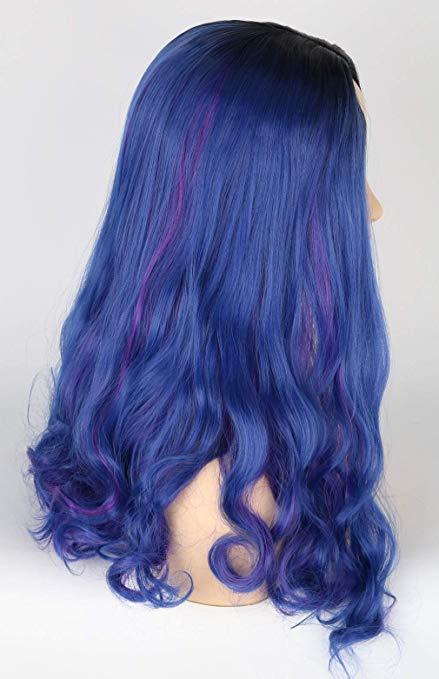 encaracolado ondulado sintético cosplay perucas para festa