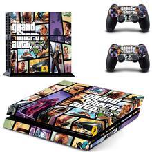 Grand Theft Auto V GTA 5 PS4 cilt Sticker çıkartmaları kapak PlayStation 4 için PS4 konsolu ve denetleyici Skins çıkartmalar vinil