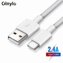 Olnylo Cable USB tipo C para móvil, Cable de carga rápida tipo C para Samsung S9, S8, Huawei P20, Mate y Xiaomi