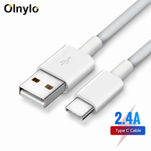 Olnylo USB Type C Cable for Samsung S9 S8 Fast Charge Type-C Mobile Phone Charging Wire USB C Cable for Huawei P20 Mate Xiaomi