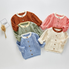Baby Sweater Cotton Knitted Baby Cardiga
