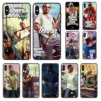 American Game Grand Theft Auto GTA Etui black Phone case For iphone 4 4s 5 5S SE 5C 6 6S 7 8 plus X XS XR 11 PRO MAX 2020 image