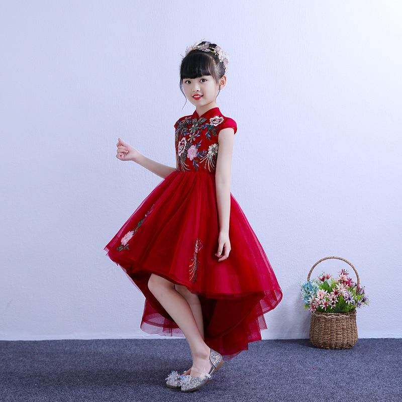 CHILDREN'S Dress Princess Dress Flower Boys/Flower Girls Puffy Yarn Small Host Late Formal Dress Girls Piano Costume Catwalks GI