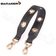 BAMADER Genuine Leather Lychee Pattern Woman Short Bag Strap Fashion High Quality Shoulder Strap Ladies Bag Part Accessories New