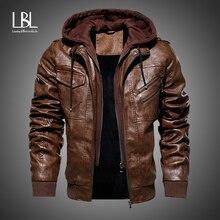 Мужские кожаные куртки, зимняя Новинка, повседневная мотоциклетная куртка из искусственной кожи, байкерские кожаные пальто, европейская ветровка, куртка из натуральной кожи
