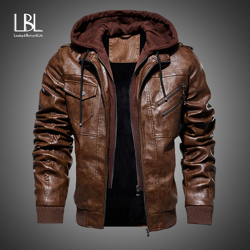 Mens Leather Jackets 2019 Winter New Casual Motorcycle PU Jacket Biker Leather Coats European Windbreaker Genuine Leather Jacket