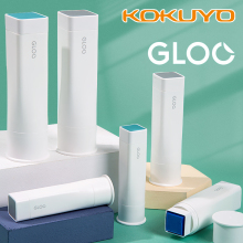 KOKUYO GLOO Glue Stick Blue White Color Right Angle Solid Glue Adhesive Paste Tool for File Diary Stationery Office School F515