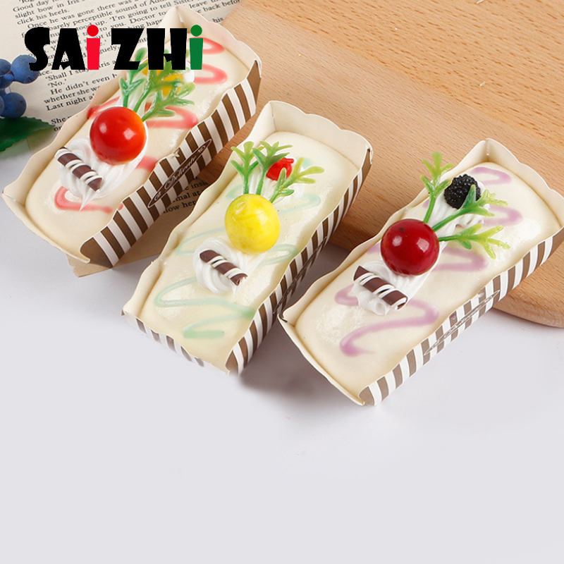 Saizhi 2019 New Mini Cake Stress Reliever Squishy Decor Slow Rising Cream Scented Decompression Cure Toy Antistress Toy