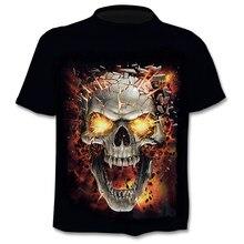 Camisetas de manga corta con cuello redondo para hombre, ropa de Hip Hop, moda urbana, camiseta de calavera 3D, ropa 3D de moda