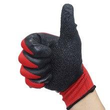 1 paar Getaucht Gummi handschuhe auto auto mechaniker reparatur handschuhe wasserdicht und öl beständig verschleiß falten universal handschuhe