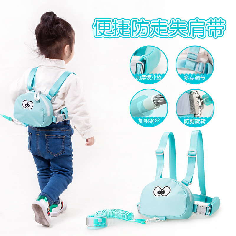 Toddler Baby Kids Safety Harness Cut Continuously Child Leash Anti Lost Wrist Link Traction Rope Travel Backpack  Baby Carriers