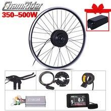 Rueda de Motor eléctrico de 350W y 500W, Kit de conversión de bicicleta eléctrica de 48V, Kit de bicicleta eléctrica de 36V, Motor central MXUS 15F 15R 15C