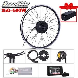 350W 500W Electric Motor Wheel 48V electric bike ebike Conversion Kit 36V Electric Bicycle bike Kit MXUS 15F 15R 15C Hub Motor(China)