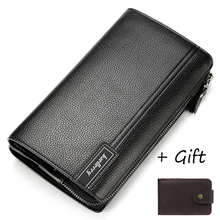 цена на Large Capacity Men Wallet Leather Famous Brand Clutch Wallet Credit Card Holder Designer Male Purse Clutch Bag Phone New Arrival