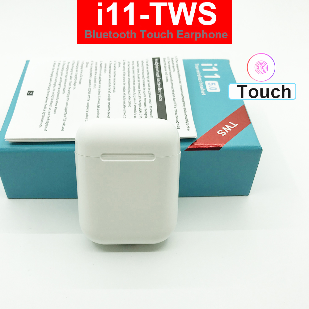 Mini i11 <font><b>tws</b></font> Touch Control Wireless headphones bluetooth 5.0 earphones with charging box for iphone 5 6 7 8 x 11 xiaomi Android image