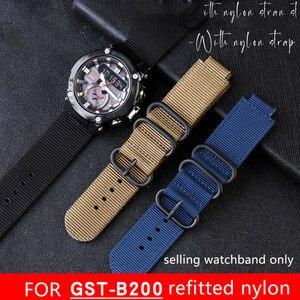 24*16 мм модифицированный нейлоновый ремешок для gst-b200 серии специальный ремешок для часов на открытом воздухе влагостойкий нейлоновый ремеш...