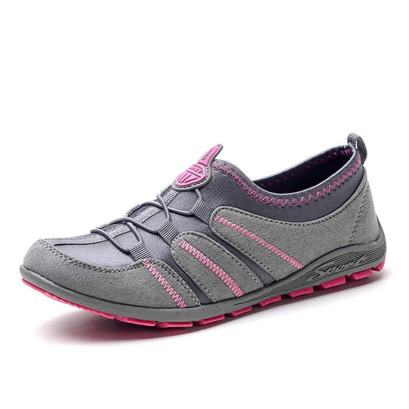 2019 frühling Frauen Wohnungen Schuhe Atmungs Mode Casuas Schuhe Frau Slip-on Trainer Licht Bequemen Turnschuhe